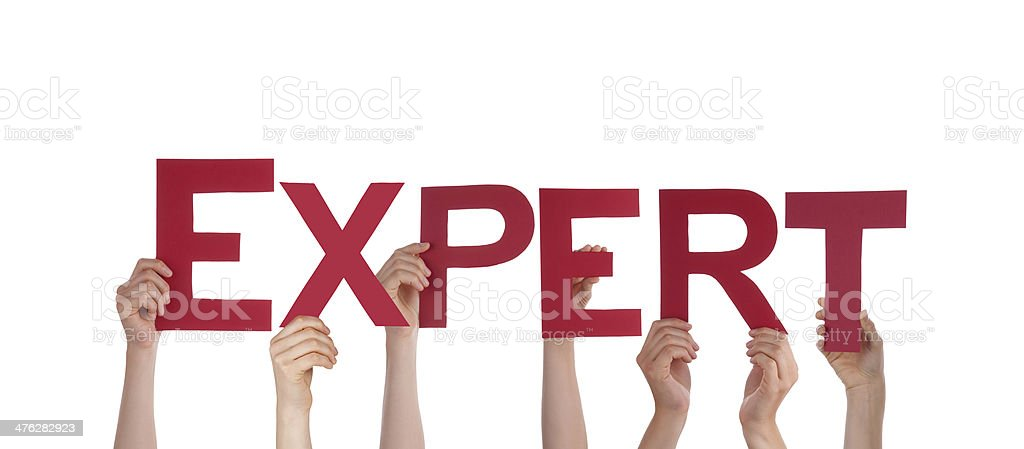 People Holding Expert royalty-free stock photo