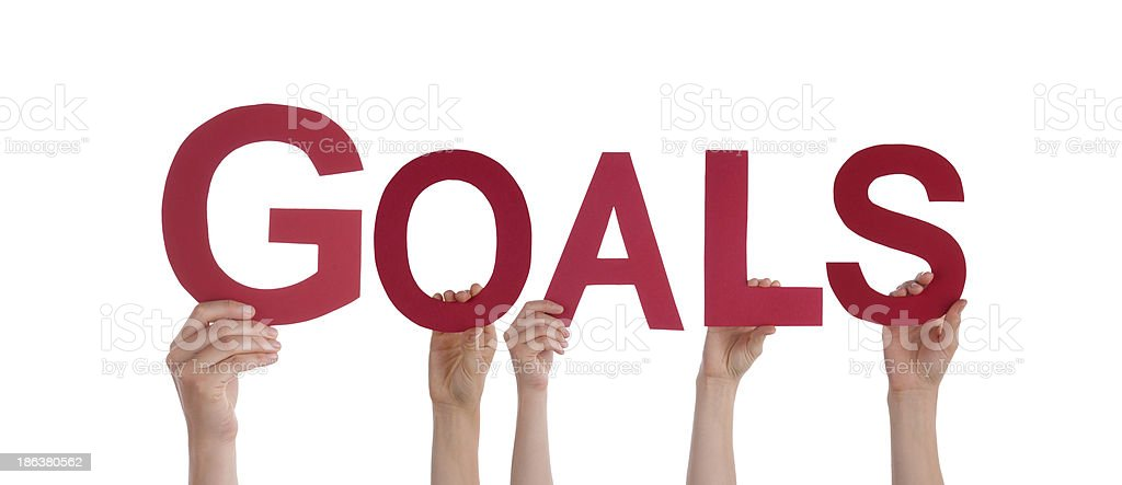 People Holding Goals royalty-free stock photo