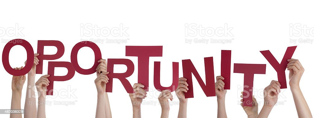 People Holding Opportunity stock photo