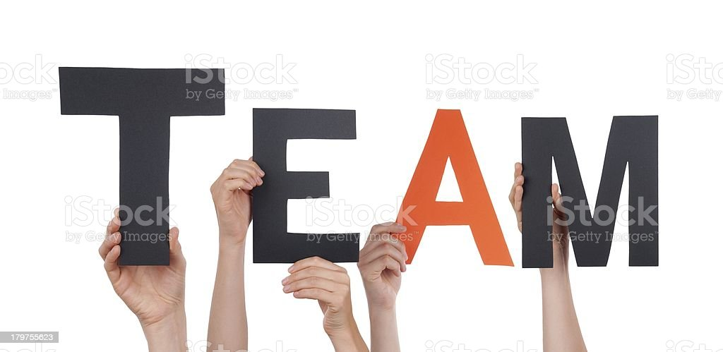 People Holding Team royalty-free stock photo