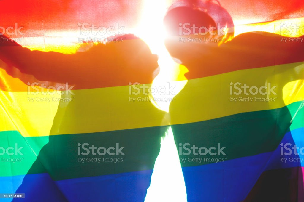 People, homosexuality, same-sex marriage, gay and love concept stock photo