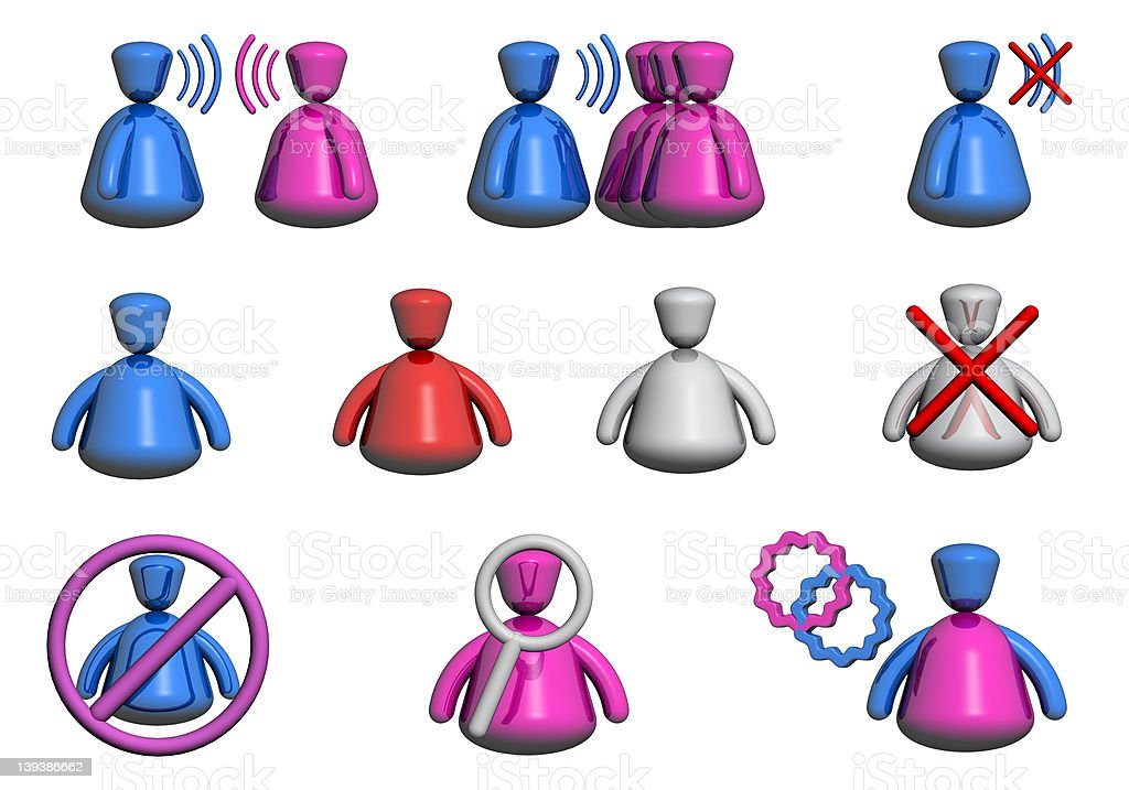 People Icons -  Chat / Forum  Front View royalty-free stock photo