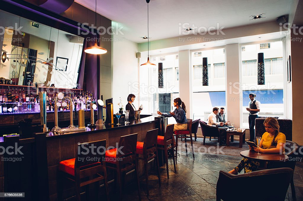 People in a Bar stock photo