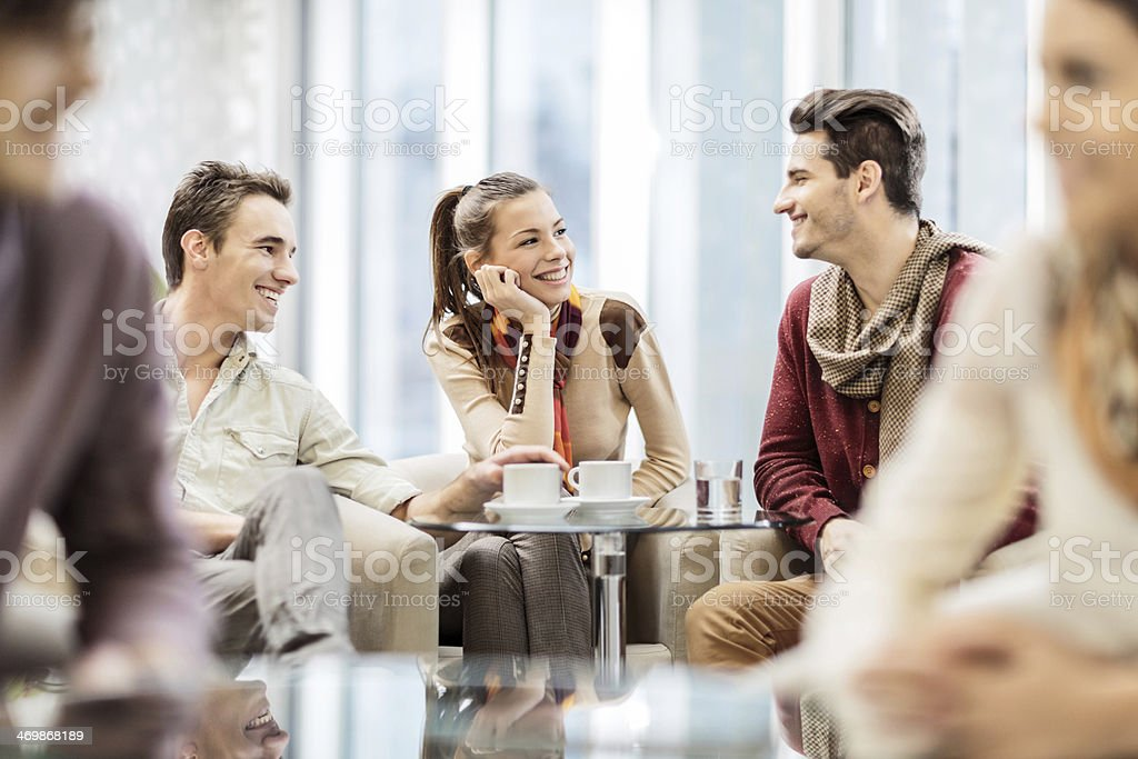 People in a cafe. royalty-free stock photo