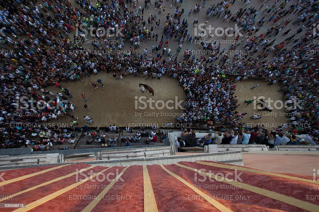 People in a circle, singing and praising stock photo