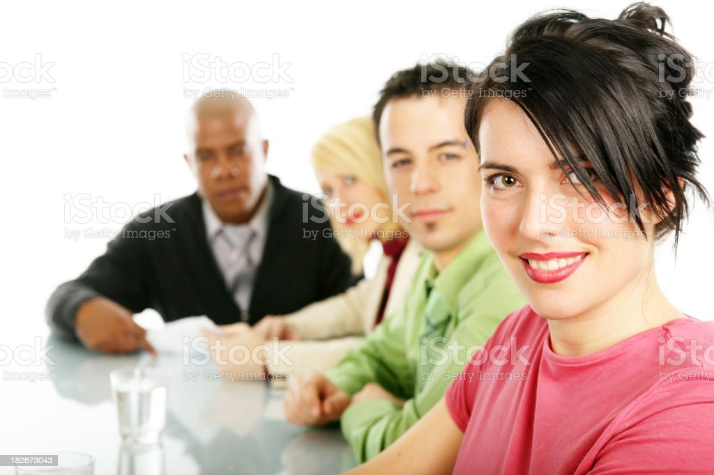 People in a conference room royalty-free stock photo