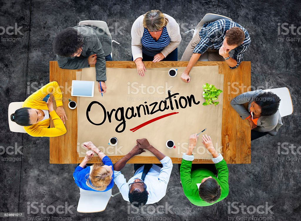People in a Meeting and Organisation Concept stock photo