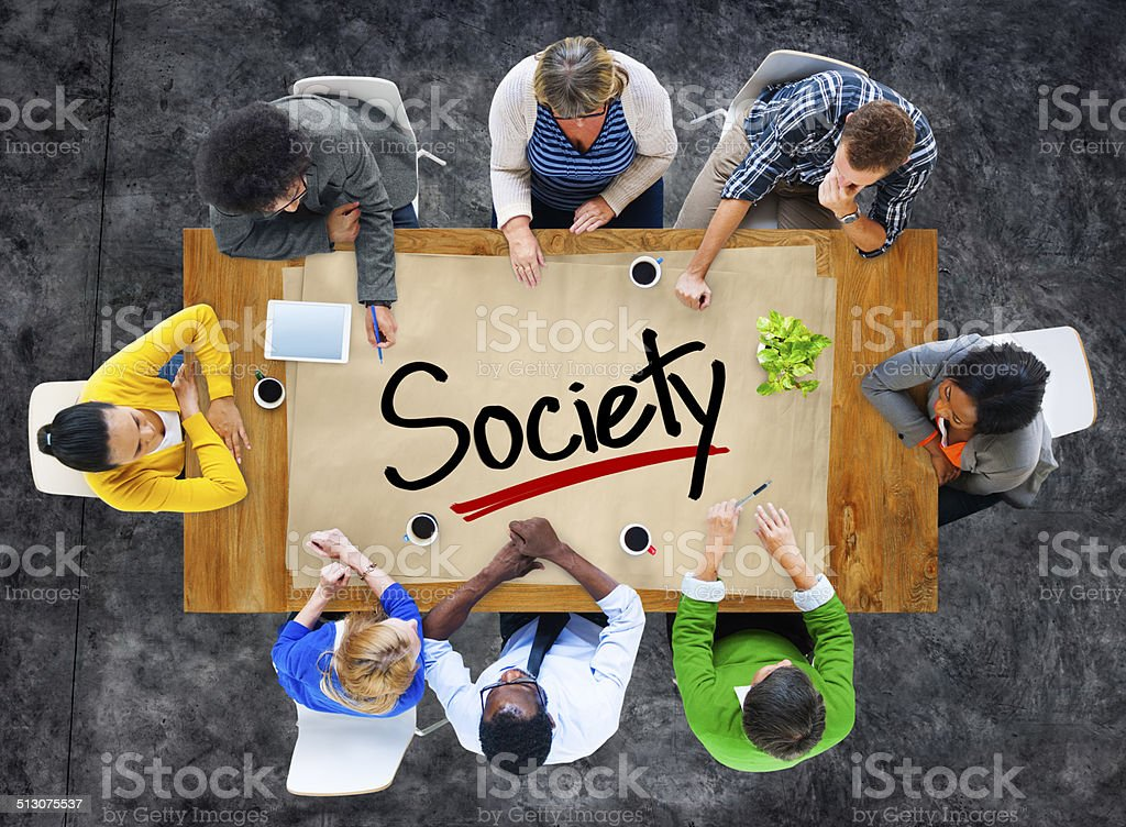People in a Meeting and Society Concept