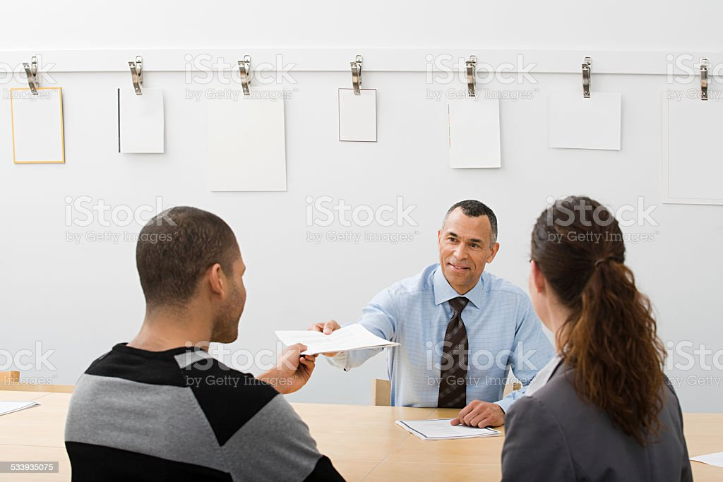 People in a meeting stock photo
