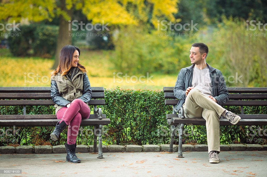 People in a Park stock photo
