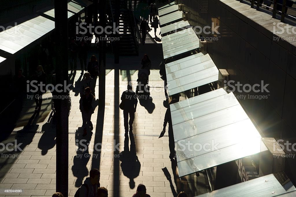 People in a shopping street stock photo