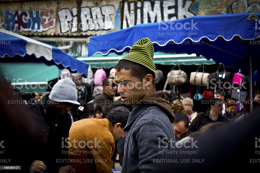 People in a Street Market stock photo