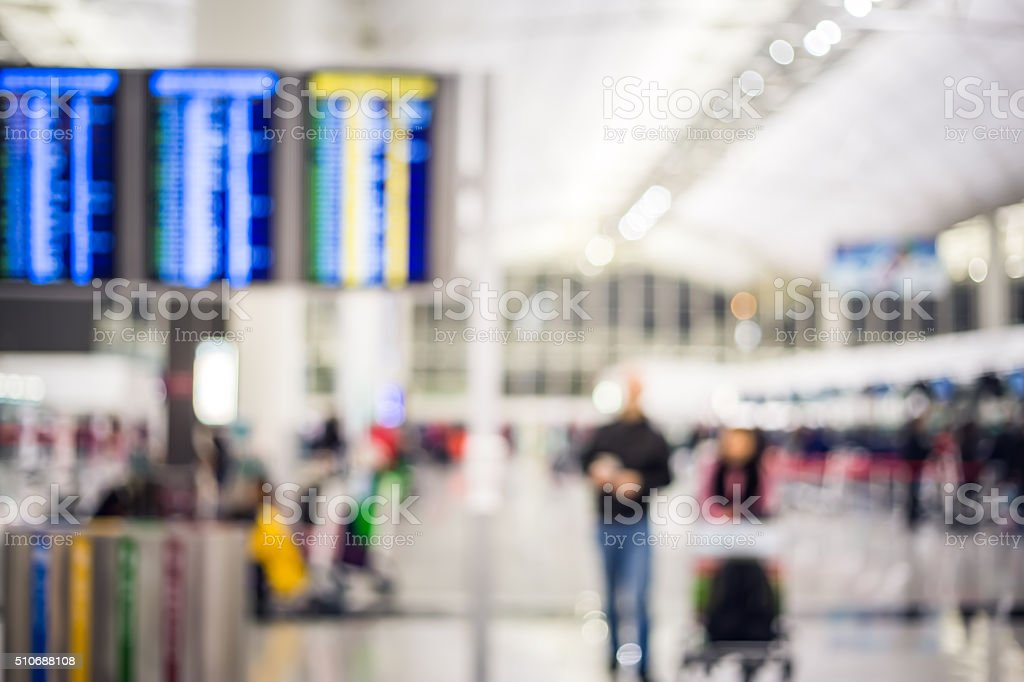 People in Airport blurred for background stock photo