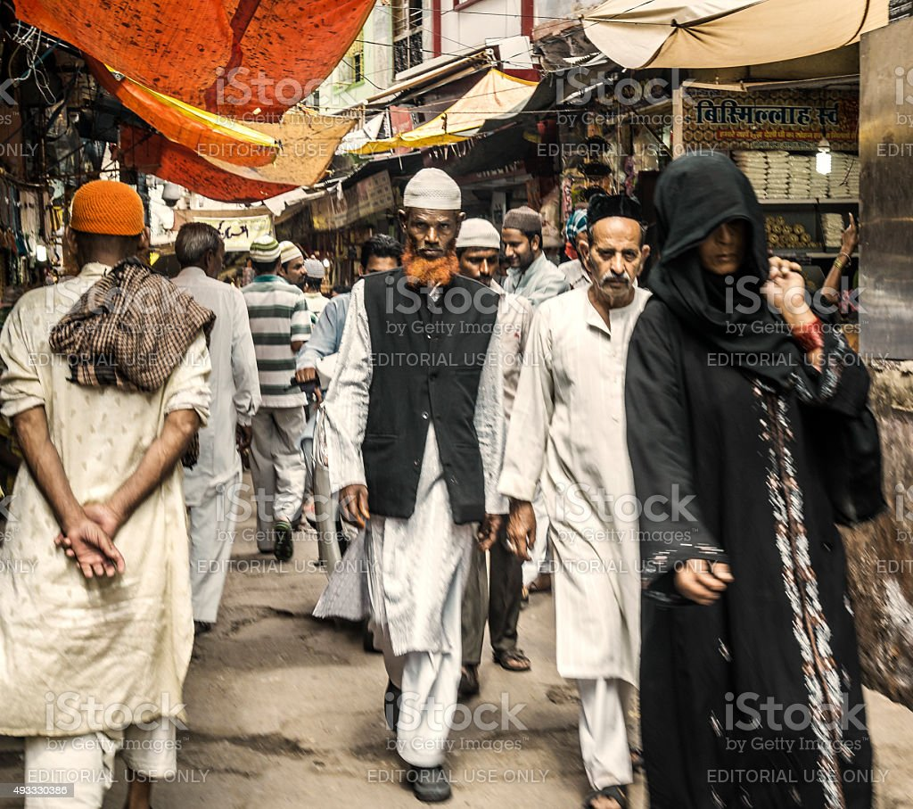 People in Ajmer Rajasthan India stock photo