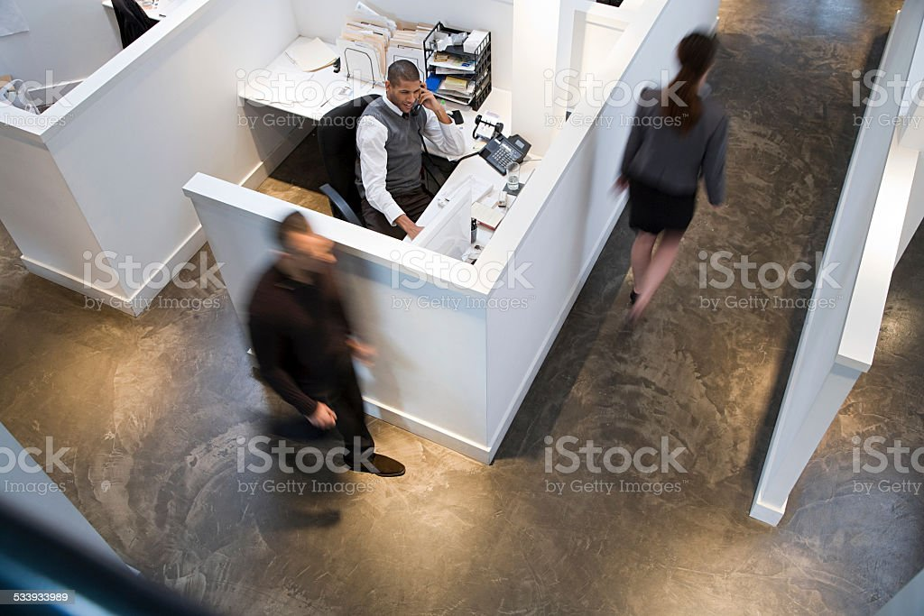 People in an office stock photo