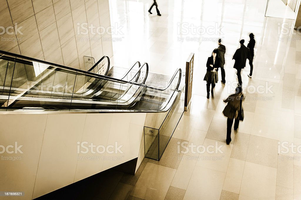 People in business center royalty-free stock photo