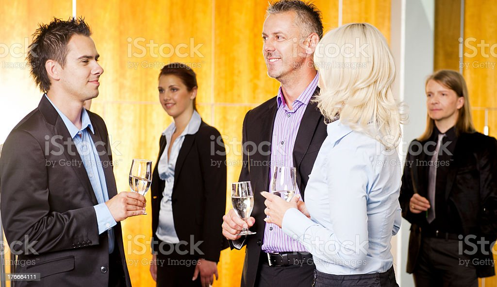 People in business suits having a buffet lunch royalty-free stock photo