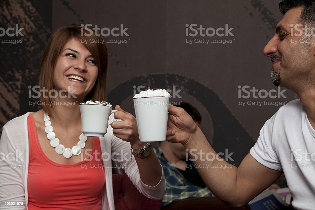 People in cafe royalty-free stock photo