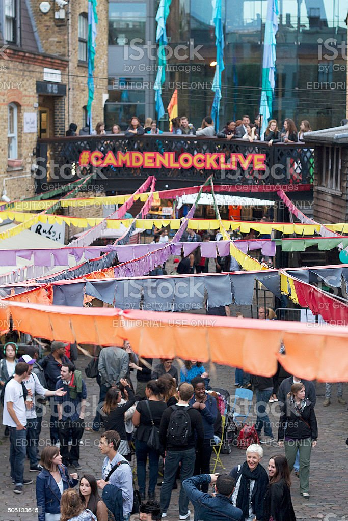 Persone a Camden foto stock royalty-free