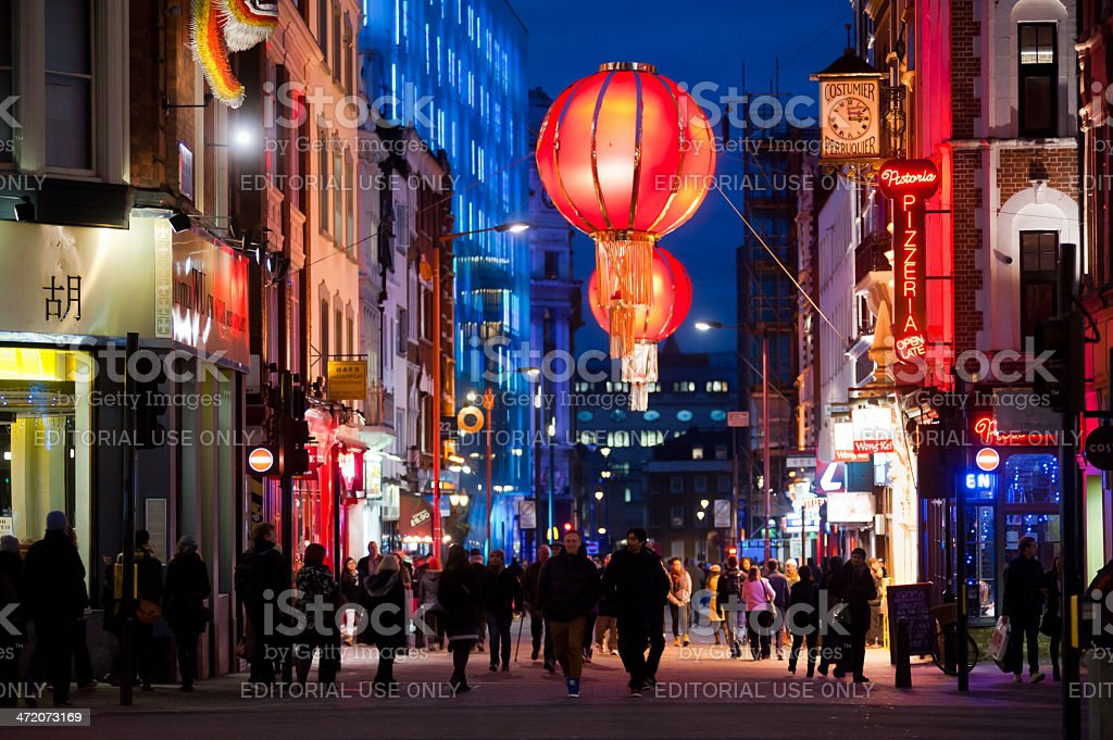 People in Chinatown, London stock photo