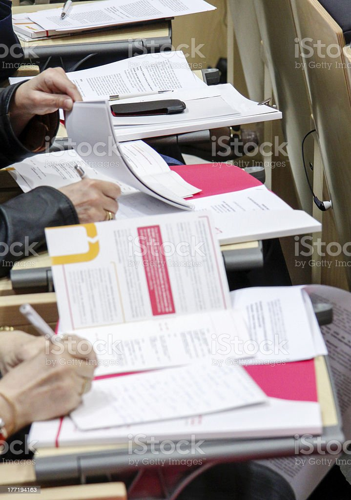 People In Conference stock photo
