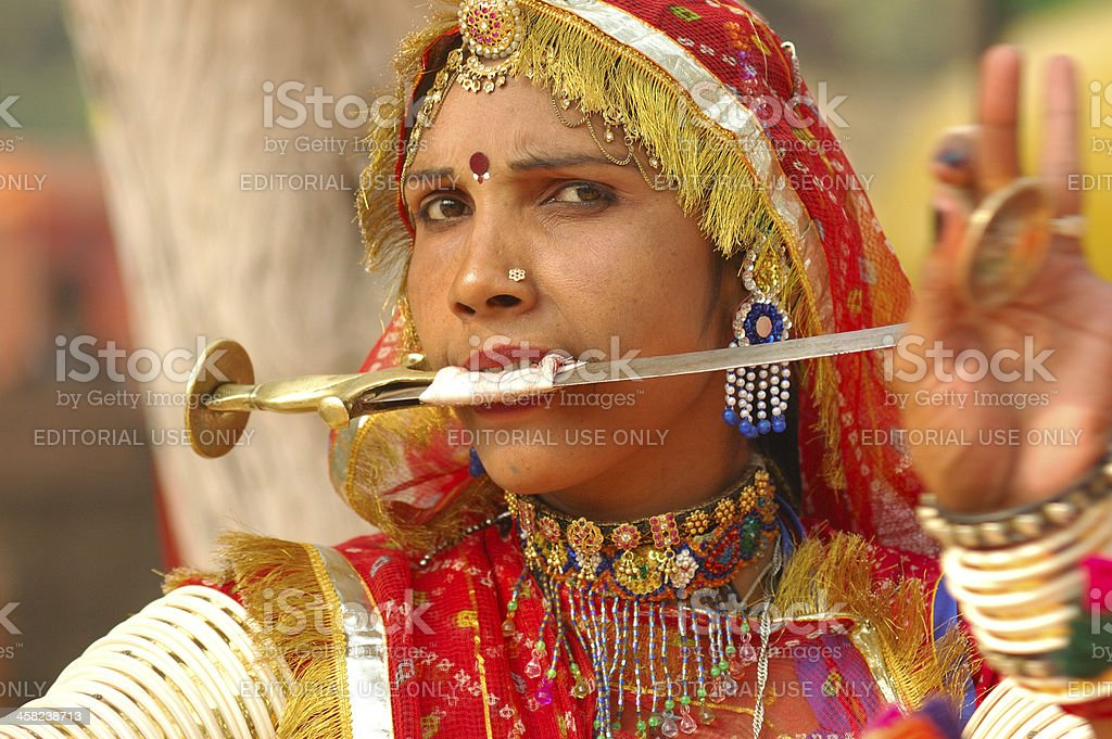 People in delhi royalty-free stock photo