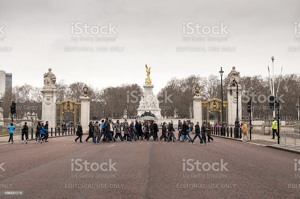 People in front of Victoria Memorial royalty-free stock photo