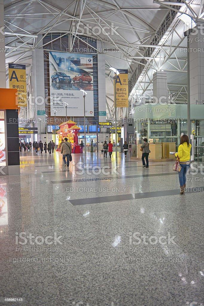 People in Guangzhou Baiyun International Airport China Asia royalty-free stock photo