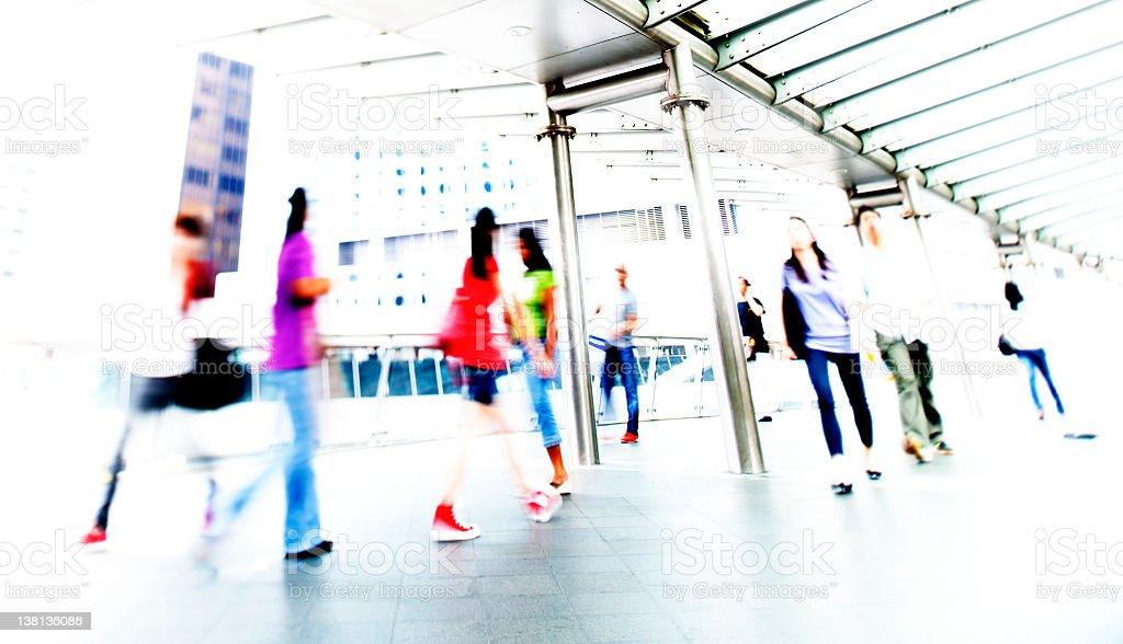 People in Hong Kong stock photo