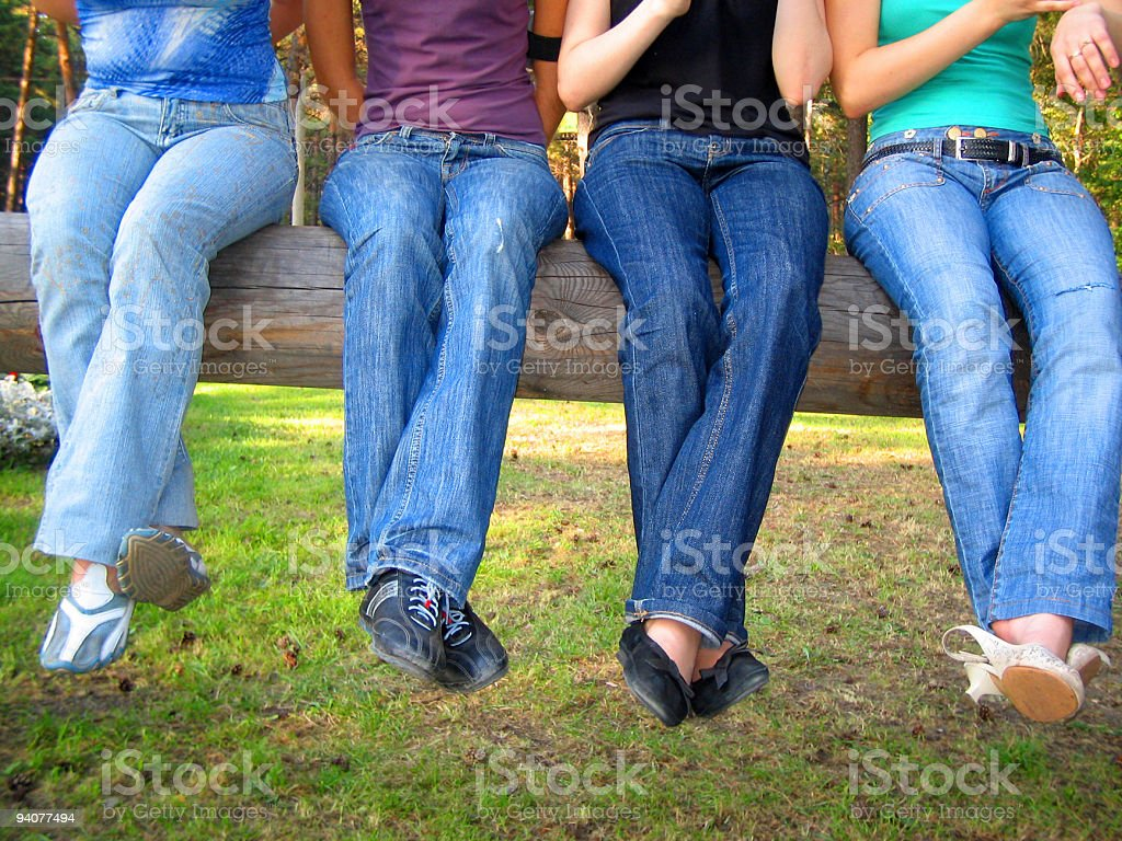 people in jeans royalty-free stock photo