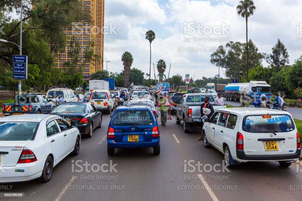 People in Kenya, the black people, the lives of people in Africa stock photo