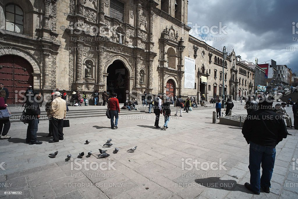People in La Paz stock photo
