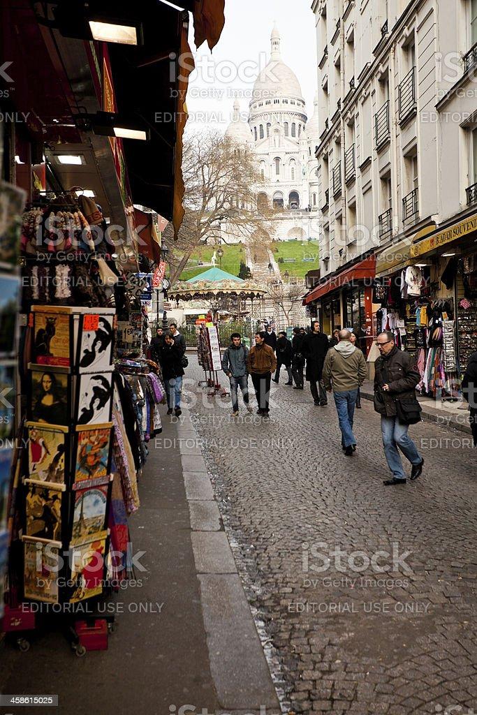 People in Montmartre, Paris, Europe royalty-free stock photo
