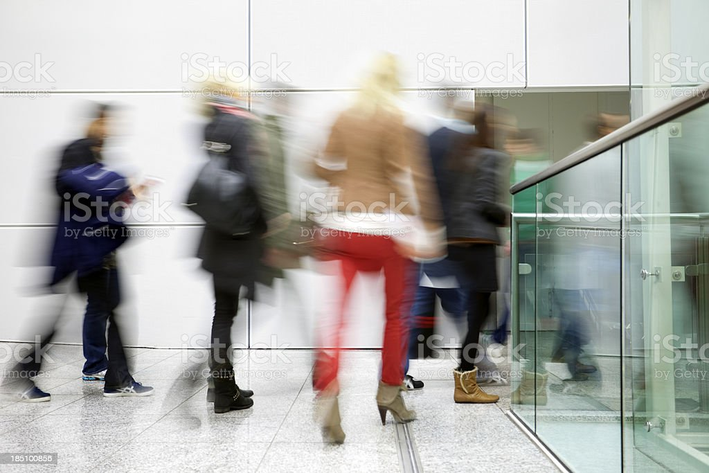People in Motion Indoors royalty-free stock photo