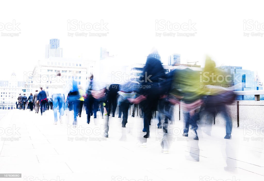 People in motion London City royalty-free stock photo