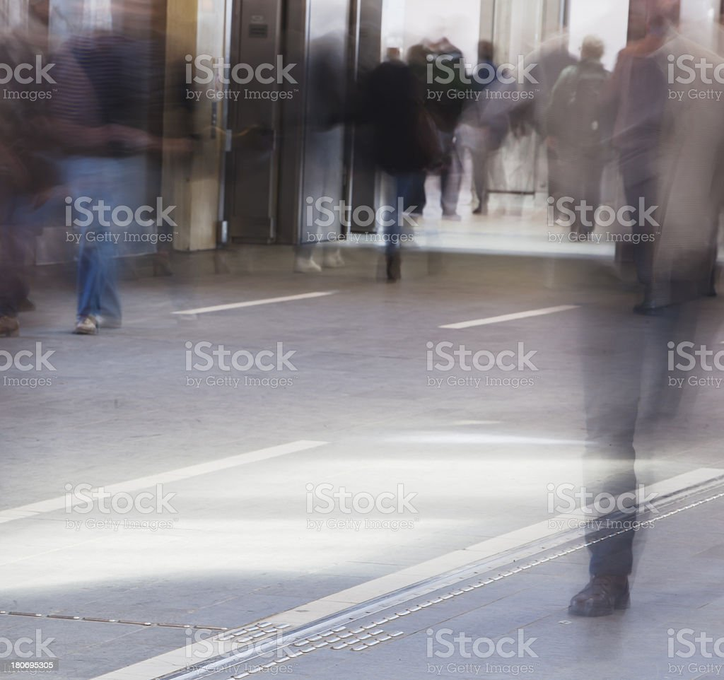 People in motion. royalty-free stock photo