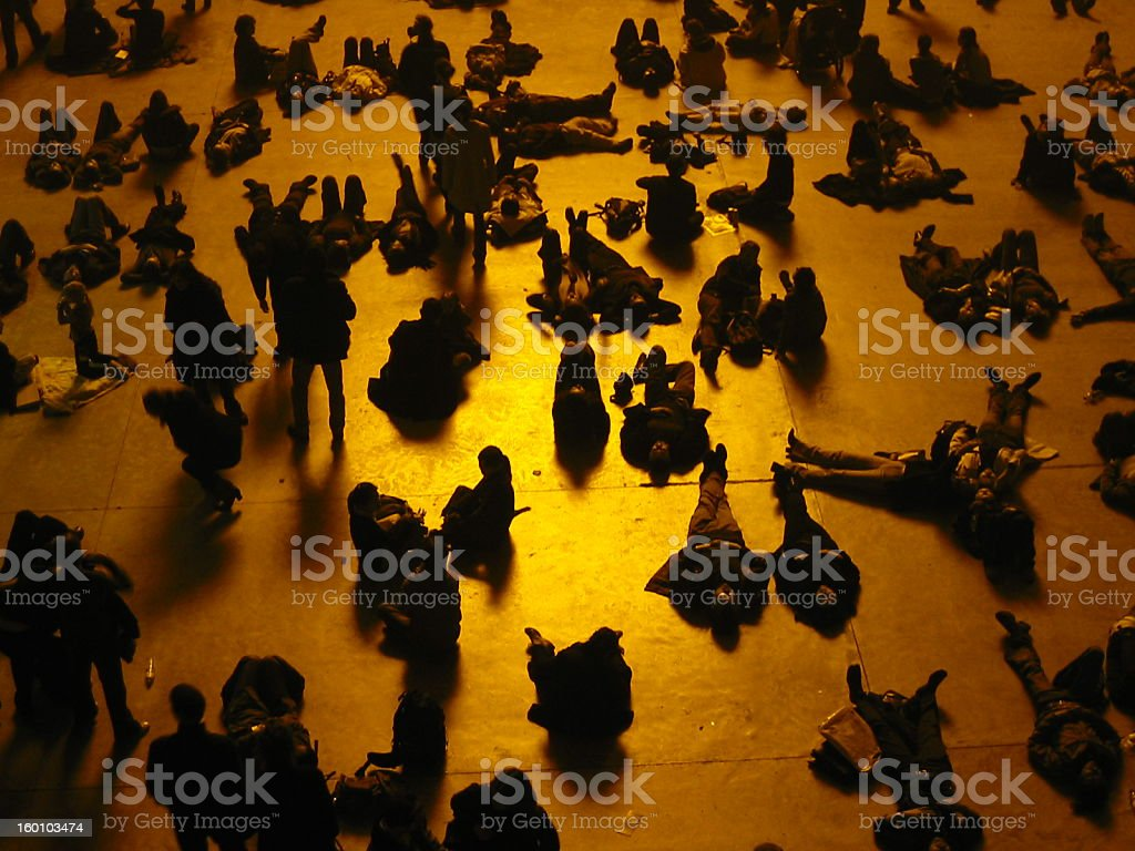 People in Museum: Tate Modern stock photo