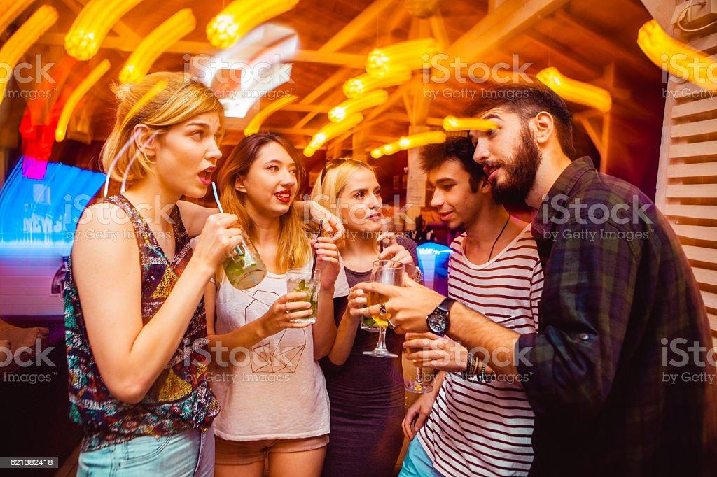 People in night club stock photo