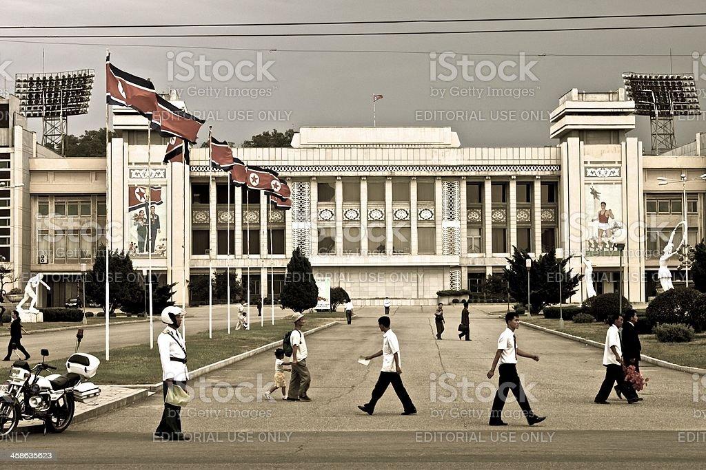 People in North Korea stock photo