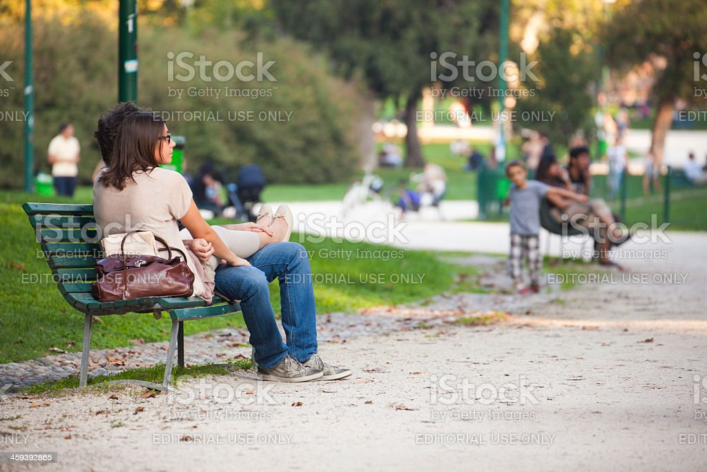 People in park royalty-free stock photo