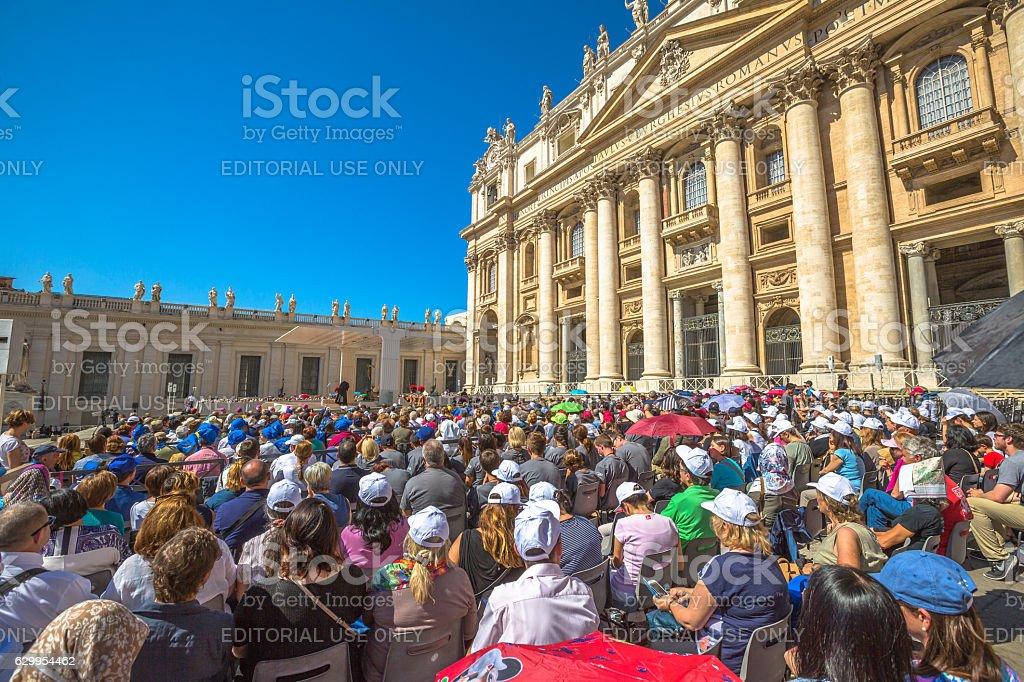 People in San Pietro stock photo