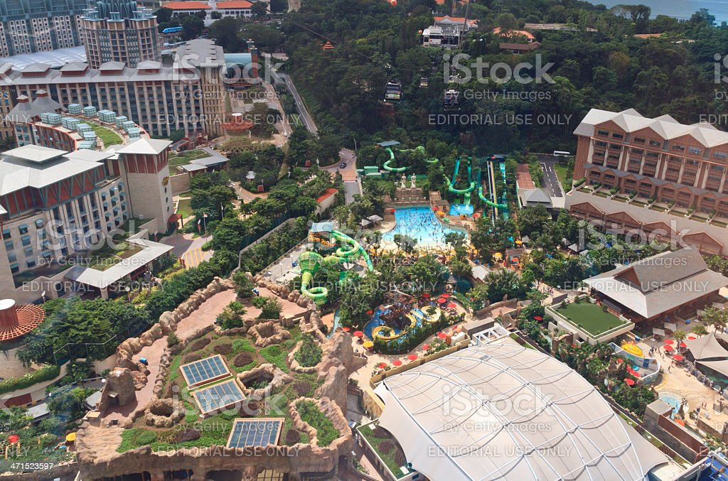 people in Sentosa island of Singapore royalty-free stock photo