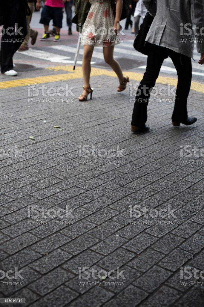 People in Shibuya stock photo
