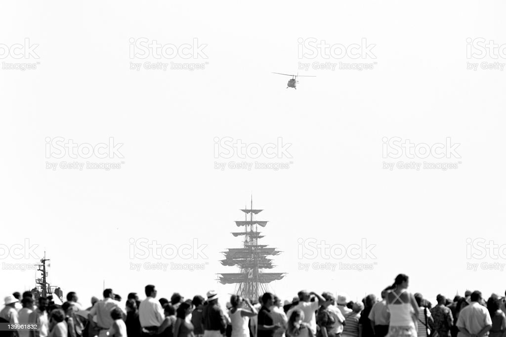 People in Ship show royalty-free stock photo