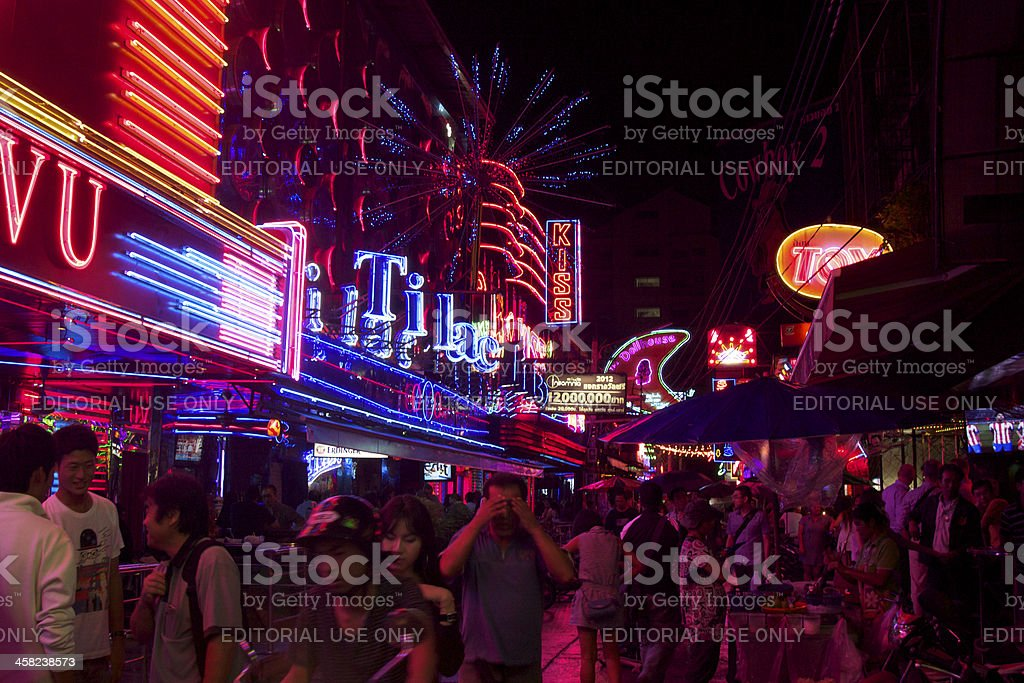 People in Soi Cowboy, Bangkok Thailand stock photo