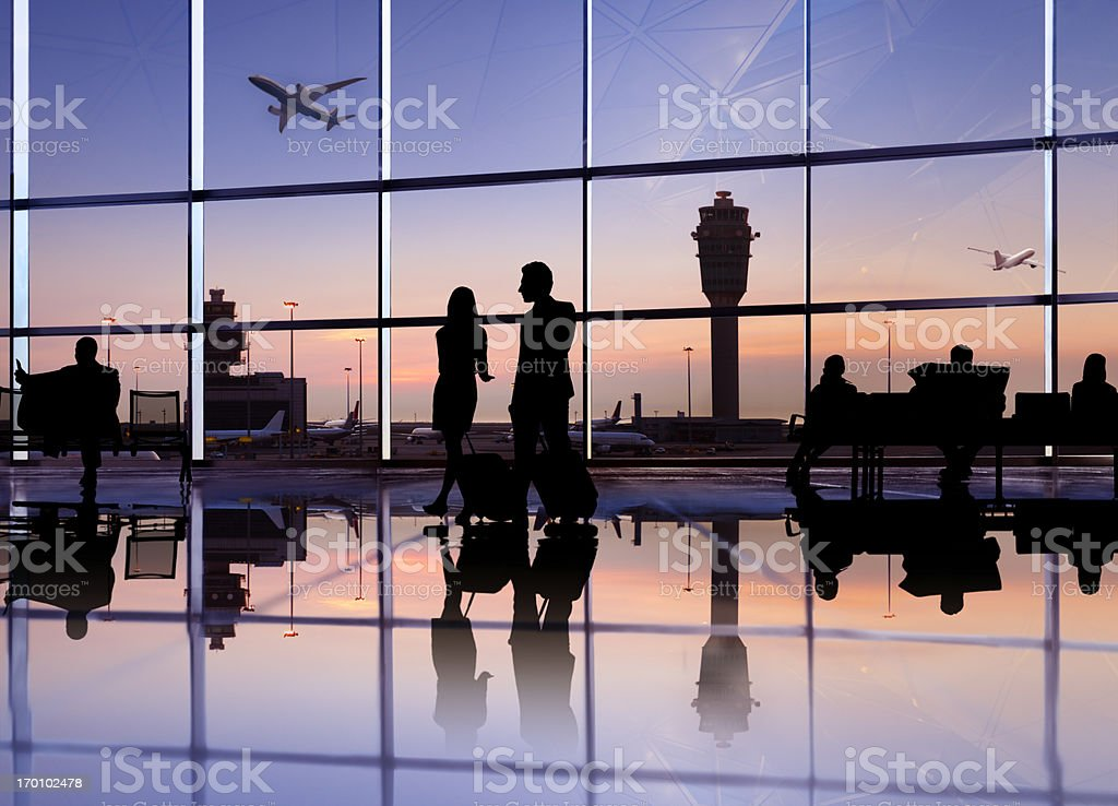 People in the airport. stock photo