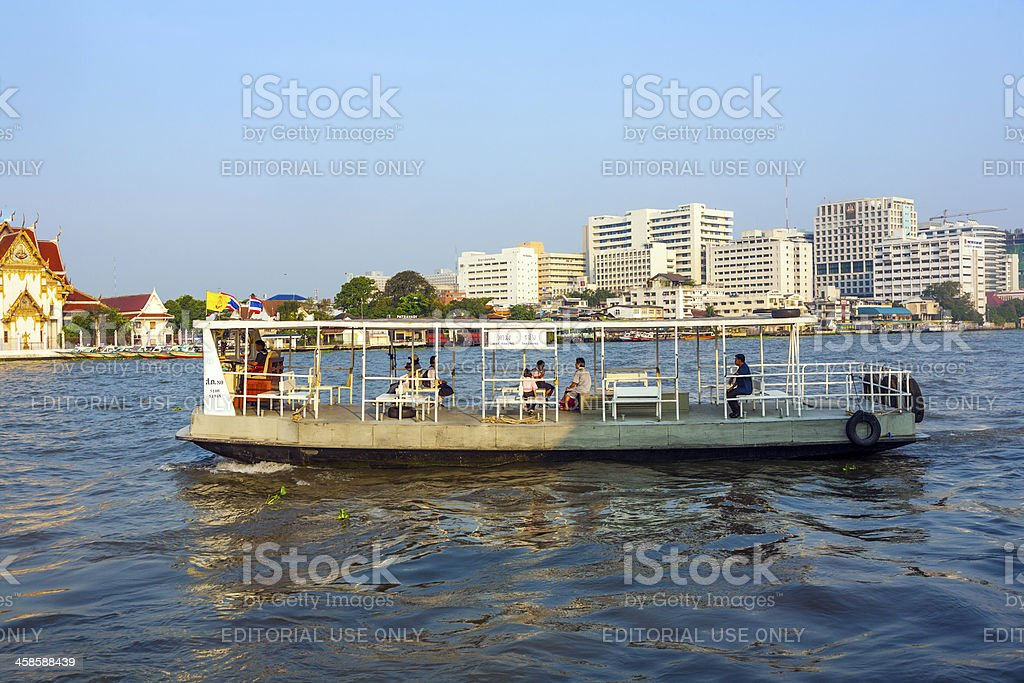 people in the boat at river Mae Nam Chao Phraya royalty-free stock photo