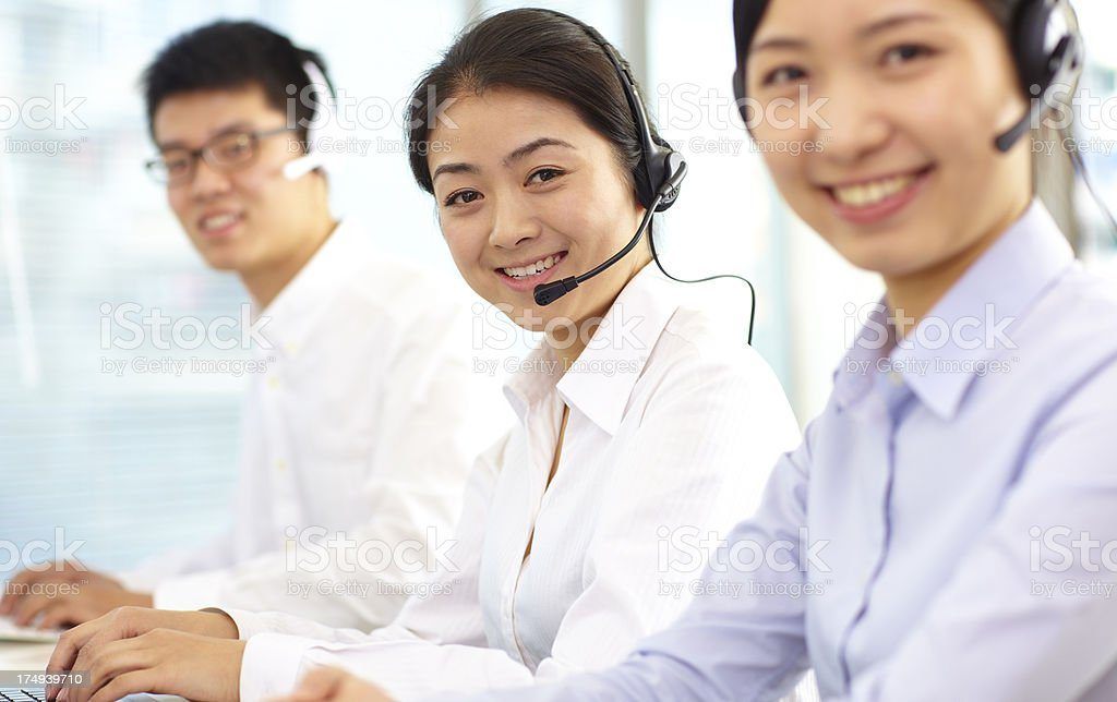 people in the call center royalty-free stock photo