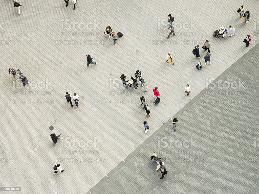 People in the City From Above royalty-free stock photo