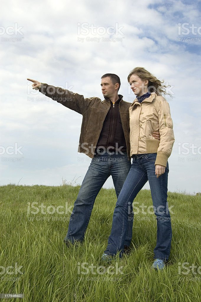 People in the field royalty-free stock photo